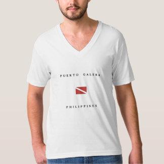 Puerto Galera Philippines Scuba Dive Flag T-Shirt
