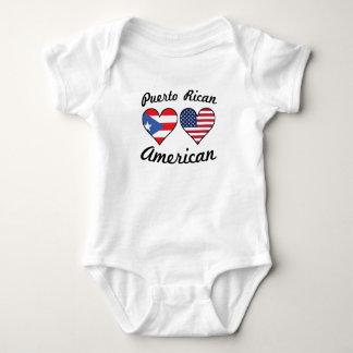 Puerto Rican American Flag Hearts Baby Bodysuit