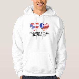Puerto Rican American Hearts Hoodie