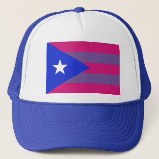 Puerto Rican Bi Pride Bisexual LGBT Trucker Hat