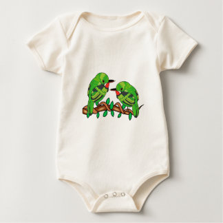 Puerto Rican bird love art Baby Bodysuit