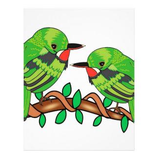 Puerto Rican bird love art Letterhead