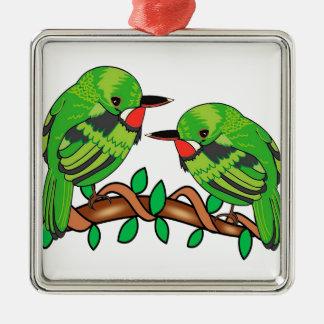 Puerto Rican bird love art Metal Ornament