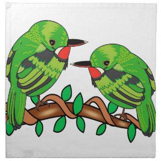 Puerto Rican bird love art Napkin