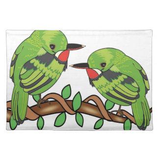 Puerto Rican bird love art Placemat