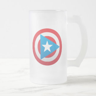 Puerto Rican Captain jar Frosted Glass Beer Mug