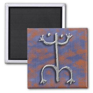 Puerto Rican coqui petroglyph magnet