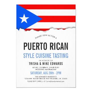 Puerto Rican Cuisine | Party Flag Invite