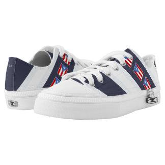 Puerto Rican Flag: Classic Low-Top Sneakers