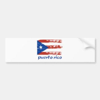 Puerto rican flag design bumper sticker