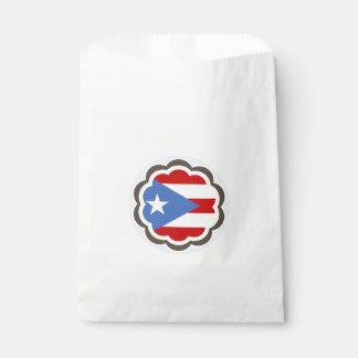 Puerto Rican Flag Flower Favour Bag
