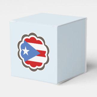 Puerto Rican Flag Flower Wedding Favor Box
