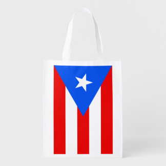 Puerto Rican flag grocery shopping bag