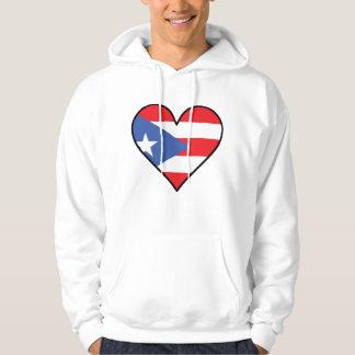 Puerto Rican Flag Heart Hoodie