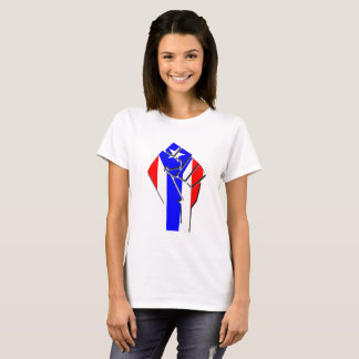 Puerto Rican Flag in Fist, Flat Design, 2017 T-Shirt