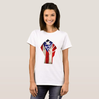 Puerto Rican Flag  in Grunge Fist, 2017 T-Shirt