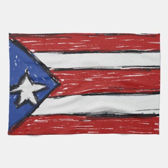 Puerto Rican Flag Kitchen Towels
