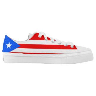 Puerto Rican Flag Low-Top Sneakers
