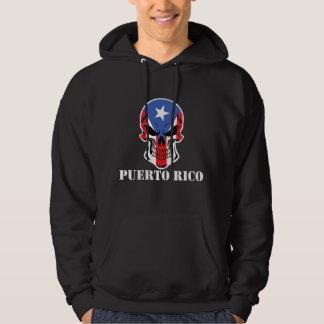 Puerto Rican Flag Skull Puerto Rico Hoodie