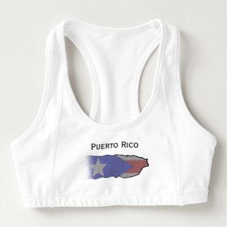 Puerto Rican Flag Sports Bra