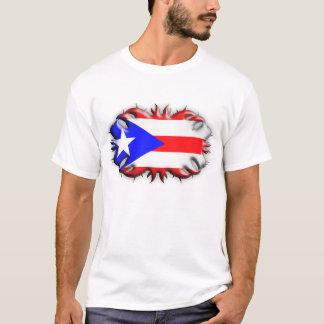 Puerto Rican Flag - Tribal T-Shirt