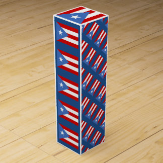 Puerto Rican Flag Wine Gift Boxes