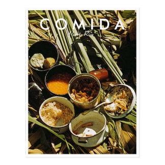Puerto Rican Food, History, Puerto Rico Postcard