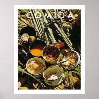 Puerto Rican Food, History, Puerto Rico Poster