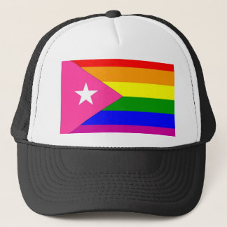 Puerto Rican Gay Pride Flag Trucker Hat