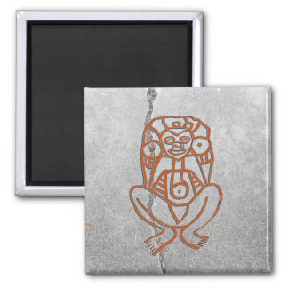 Puerto Rican goddess petroglyph - customized Magnet