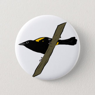 Puerto Rican Oriole 2 Inch Round Button