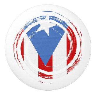 Puerto Rican Pride Flag Ceramic Knob