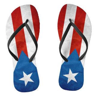 Puerto Rican Pride Flip Flops