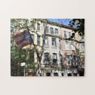 Puerto Rican Pride New York City Brownstones Photo Jigsaw Puzzle