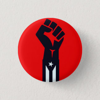 Puerto Rican Resistance Fist 1 Inch Round Button