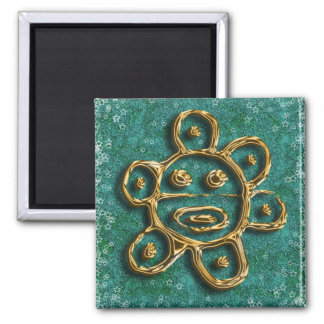 Puerto Rican sun petroglyph magnet