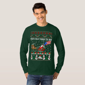Puerto Rican Through Snow Ugly Christmas Sweater