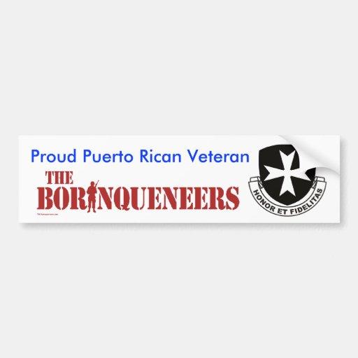 Puerto Rican Veteran - Bumper Sticker