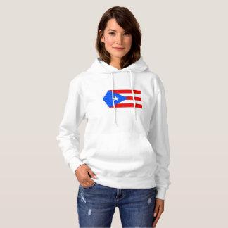 puerto rican  Women's Basic Hooded Sweatshirt