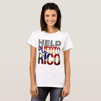 Puerto Rico, 2017, Help Puerto with Flag T-Shirt