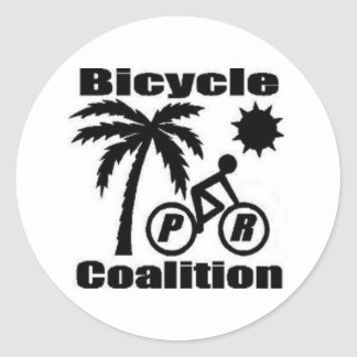 Puerto Rico Bicycle Coalition Round Sticker 1.5""
