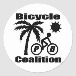 "Puerto Rico Bicycle Coalition Round Sticker 3"""