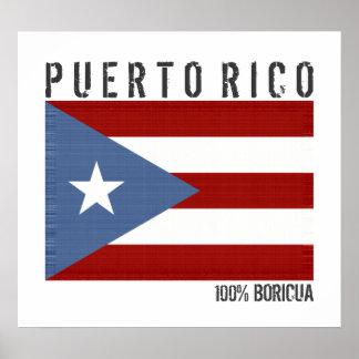 Puerto Rico Boricua Poster