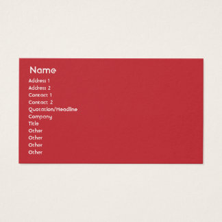 Puerto Rico - Business Business Card