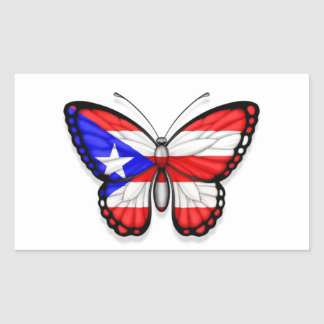 Puerto Rico Butterfly Flag Sticker