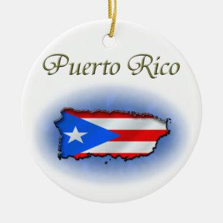 Puerto Rico Ceramic Ornament