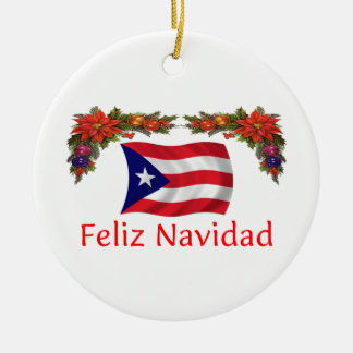 Puerto Rico Christmas Ceramic Ornament