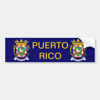 Puerto Rico Coat of Arms Bumper Sticker