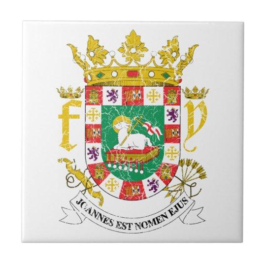 puerto rico coat of arms ceramic tile zazzle