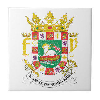Puerto Rico Coat Of Arms Tile